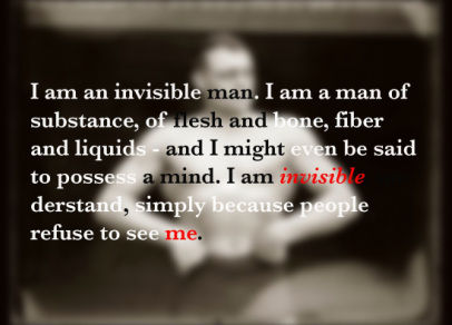 white supremacy and racial discrimination in the novel invisible man by ralph ellison In ralph ellison's novel, invisible man, comedy plays an important yet convoluted role in ralph ellison's novel invisible man, the difficult matter of forming individual identity is the fulcrum around which an unnamed narrator (a black man from the south) in so doing, he transforms violence and racism into art and humor.